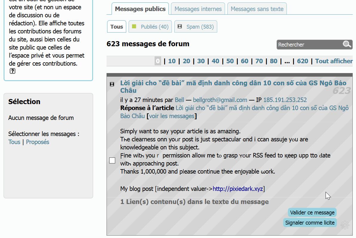 Il suffit de brancher le spam message texte datation Hamilton montres de poche